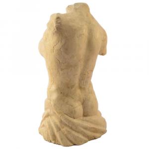 Busto femminile in marmo Giallo d'Istria scolpito a mano