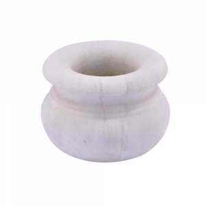 Ciotola da farmacista in marmo scolpito a mano artigianato italiano