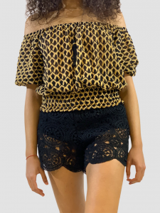SHOPPING ON LINE PHO FIRENZE TOP CORTO IN TESSUTO RACHEL CON FRANGE NEW COLLECTION WOMEN'S SPRING SUMMER 2021