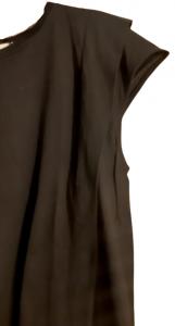 T-shirt donna| cotone nero| motivo laterale| svasata| Made in Italy