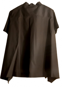 Maglia donna nera|cerniera spalla sx | tessuto e maglina|Made in Italy