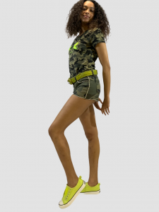 SHOPPING ON LINE NO SECERETS MILANO SHORTS CAMOUFLAGE NEW COLLECTION WOMEN'S SPRING SUMMER 2021