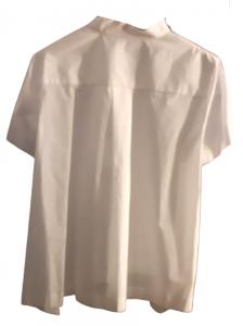 Maglia donna bianca|cerniera spalla sx|tessuto e maglina|Made in Italy