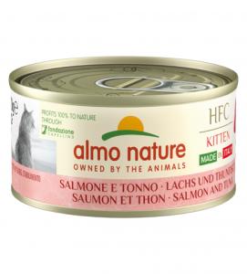 Almo Nature - HFC Cat - Kitten - Complete - Made in Italy - Salmone e Tonno - 70g x 24 lattine