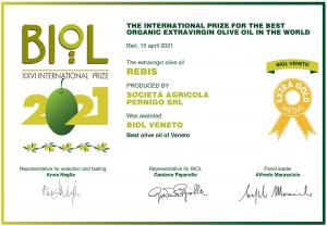 Rebis 500 ml - Olio Extra Vergine d'Oliva Biologico