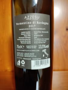 Azzesu Vino del Vulcano Vermentino di Sardegna Doc 2017 cl.75 Tenute Ledda