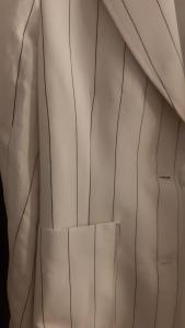 Giacca donna | bianca con riga nera | tasche applicate |Made in Italy