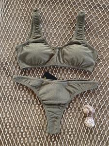Bikini Top e slip fianco americano fisso Visionary Dose Effek