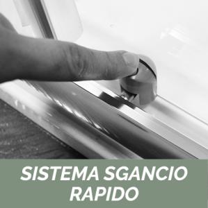 NICCHIA SCORREVOLE 2 ANTE CRISTALLO 4MM LINEA OXYGEN                   cm 96-100 - H. 190