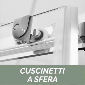 NICCHIA SCORREVOLE 2 ANTE CRISTALLO 4MM LINEA OXYGEN                   cm 116-120 - H. 190