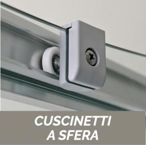 NICCHIA SCORREVOLE A 4 ANTE CRISTALLO 6MM CEE ART                      cm 172-176  / Apertura cm 70