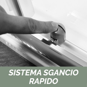 1 LATO PER DOCCIA ANGOLARE CRISTALLO LINEA ESSENTIAL                   cm 98-100 / Apertura cm 39