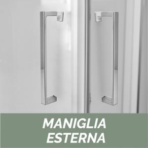 1 LATO PER DOCCIA ANGOLARE CRISTALLO LINEA ESSENTIAL                   cm 118-120 / Apertura cm 49