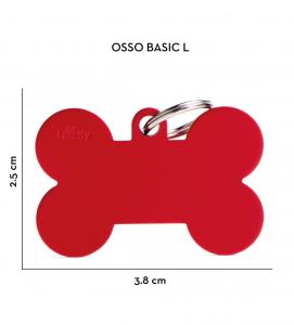 My Family - Medaglietta Alluminio Basic - con Incisione - Osso