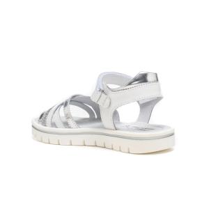 Sandalo pelle e glitter
