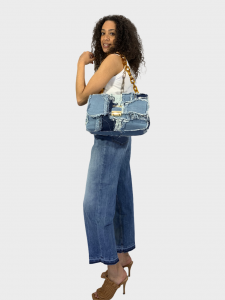 SHOPPING ON LINE PINKO JEANS MOM-FIT CON FILA DI BOTTONI MADDIE 15 MON NEW  COLLECTION  WOMEN'S  SPRING  SUMMER 2021