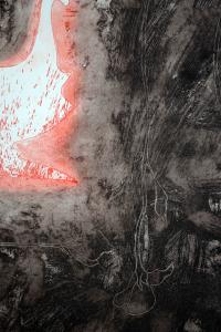 Galliani Omar Incisione Anfora rossa Formato cm 107x128