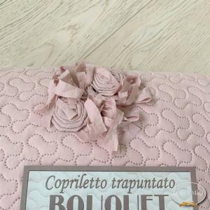 Copriletto Trapuntato Bouquet rosa