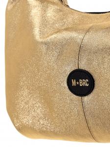 M BRC Borsa a Spalla Nera/Oro