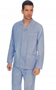 Pigiama uomo in tela di cotone in fantasia con giacca aperta DIPLOMAT