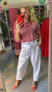 Camicia Vicolo fantasia Vichy con colletto