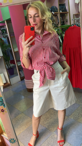 Camicia Vicolo fantasia Vichy nodo