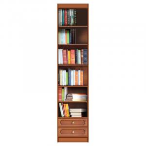 Librería modular ahorra-espacio con dos cajones