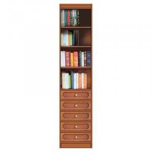 Librería modular ahorra-espacio con cajones