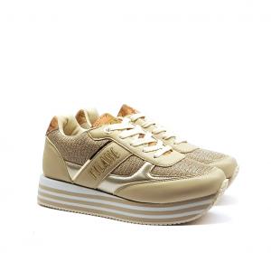 Sneaker platform platino/geo 1a Classe by Alviero Martini