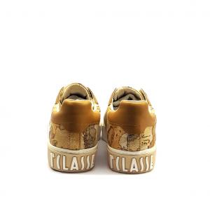 Sneaker geo/cuoio 1a Classe by Alviero Martini