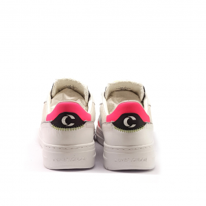 Sneaker bianca/fuxia Crime London