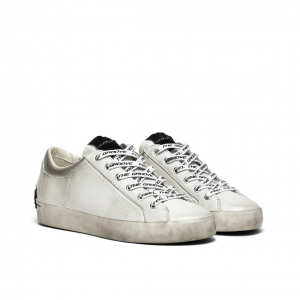 Sneaker bianca effetto vintage Crime London