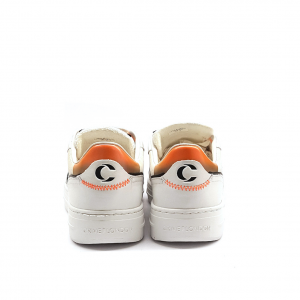 Sneaker bianca/arancio Crime London