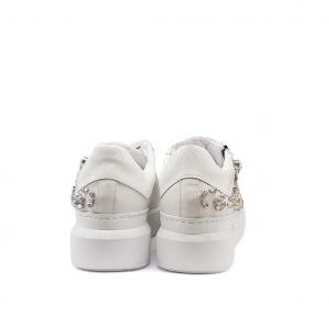 Sneaker bianca con swaroski Ed Parrish