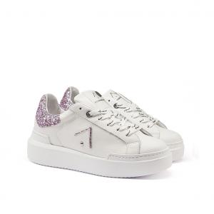 Sneaker bianca/lilla Ed Parrish