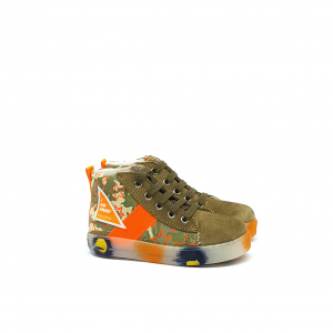 Sneaker pietra camouflage/arancio Falcotto