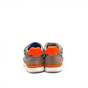 Sneaker grigia camouflage/arancio Falcotto