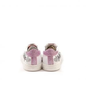 Sneaker bianca/rosa writer Falcotto