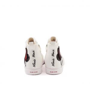 Sneaker alta bianca/rossa Minnie Disney Geox