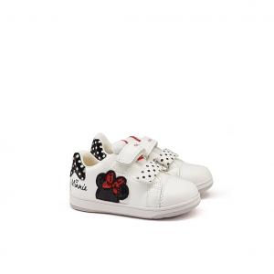 Sneaker bianca/rossa Minnie Disney Geox