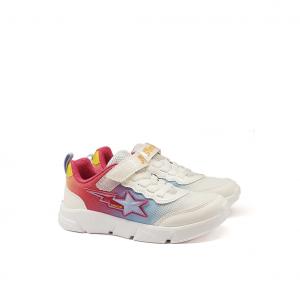 Sneaker bianca/multicolor Geox