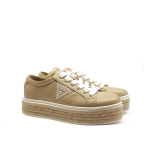 Sneaker taupe con para in corda Guess