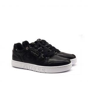 Sneaker nera con inserti cocco Guess