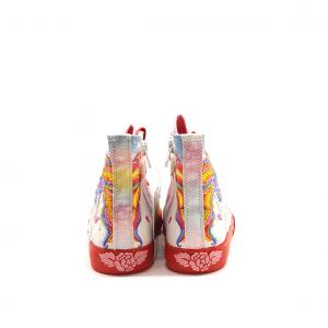 Sneaker alta fantasia unicorno/rosso Lelli Kelly