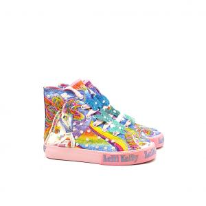 Sneaker alta fantasia unicorno/rosa Lelli Kelly