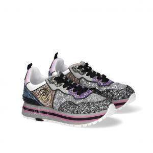 Sneaker platform multicolor glitterata Liu Jo