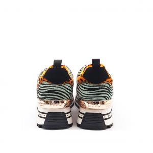 Sneaker platform patchwork animalier Liu Jo