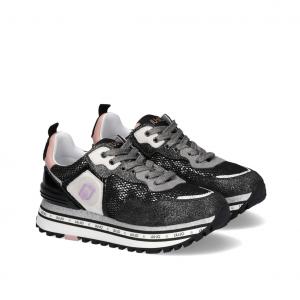 Sneaker platform nera Liu Jo