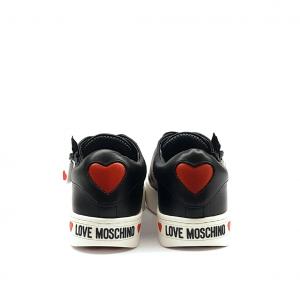 Sneaker nera con zip Love Moschino