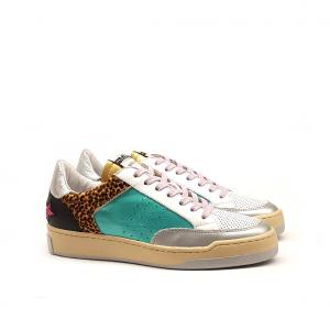 Sneaker patchwork multicolor Méliné